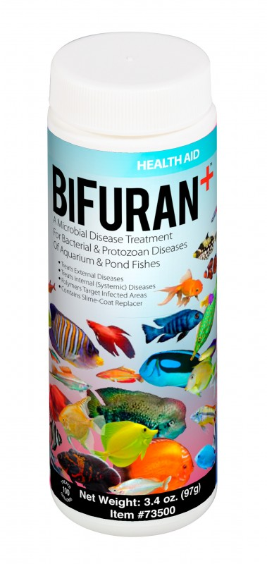 AQUARIUM SOLUTIONS BiFuran+ The World's First Aquatic Treatment For Microbial Bacteria & Protozoan Diseases That Targets The Infected Areas & Includes A Skin-Slime Replacer To Speed Recovery!