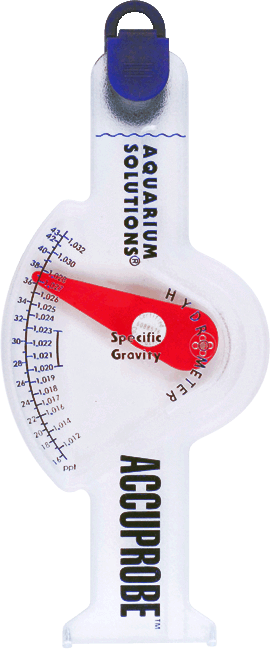 Aquarium Solutions® AccuProbe™ Hydrometer - Wide Range Specific Gravity Meter For Marine Aquarium Use
