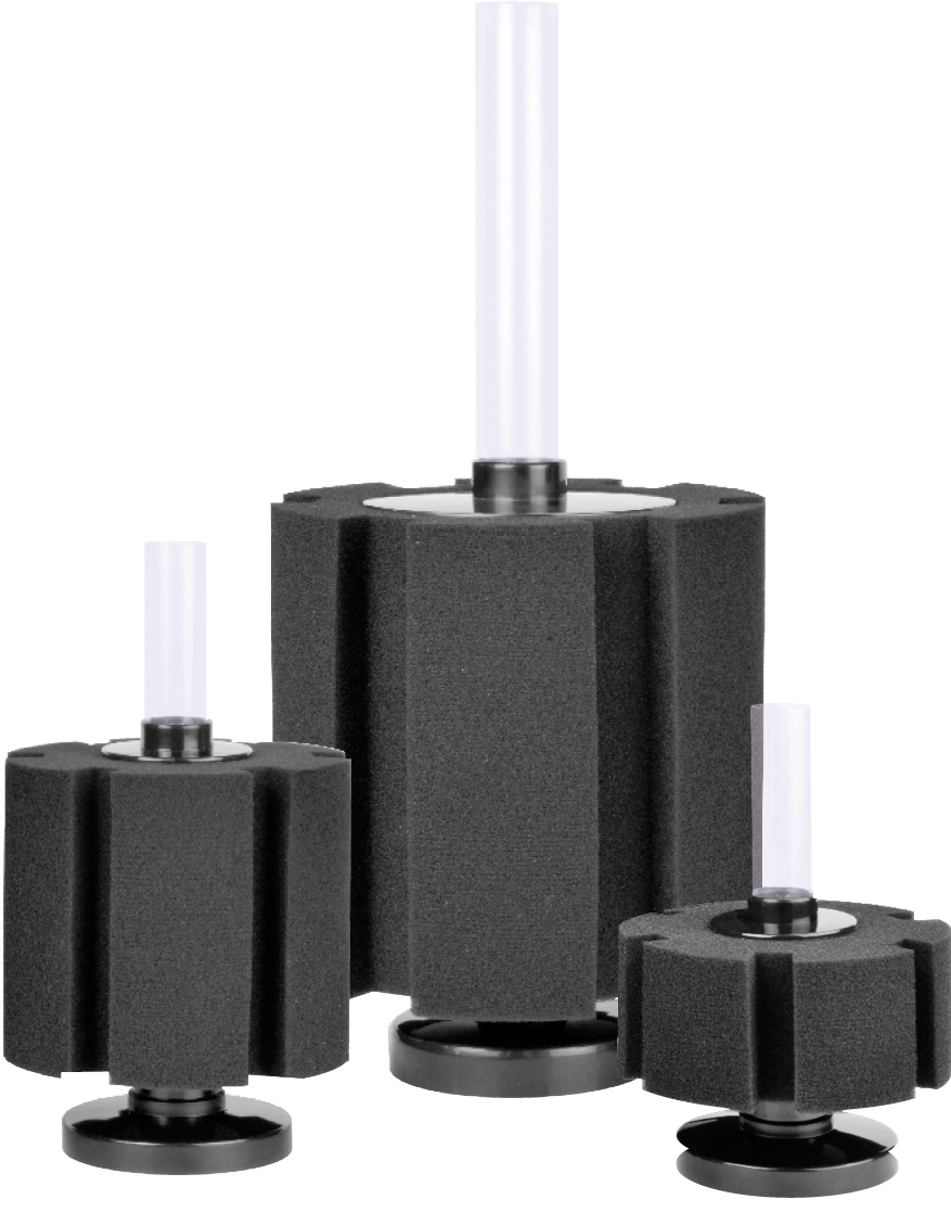AquariumSolutions-Bacto-Surge Mechanical Biological Sponge Filter Kit sizes